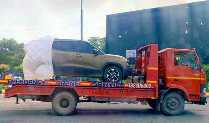 Tata Punch Spied Enroute Dealership As Unofficial Bookings Start
