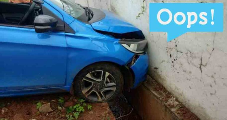 Now A Tata Tiago (4-star NCAP) Tries to Test Build Quality of Brick Wall!