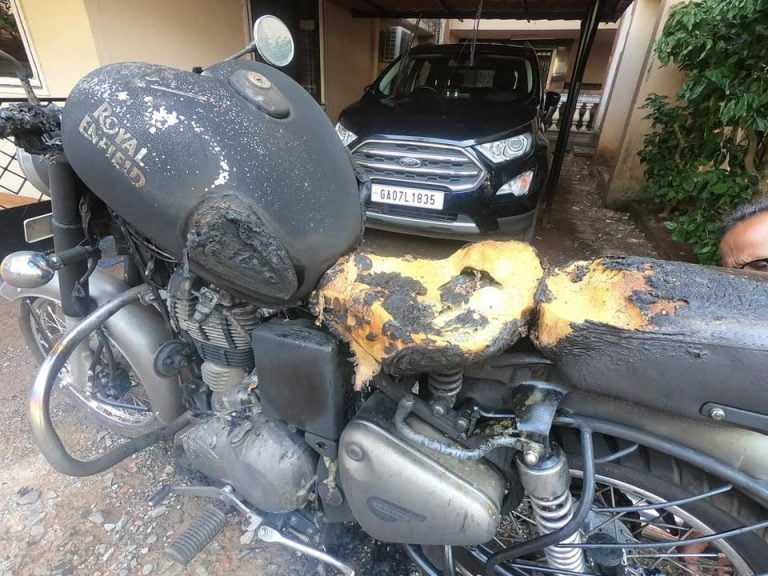This Royal Enfield Bullet Explosion Reminds One Of Chinese Phones!