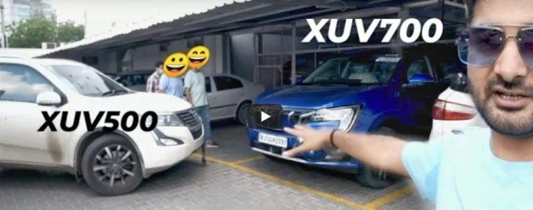 Watch Reaction of Mahindra XUV500 Owner After Driving XUV700!