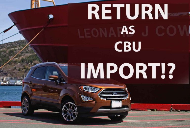 Fans Want Ford Ecosport Back As CBU- Smart or Stupid?