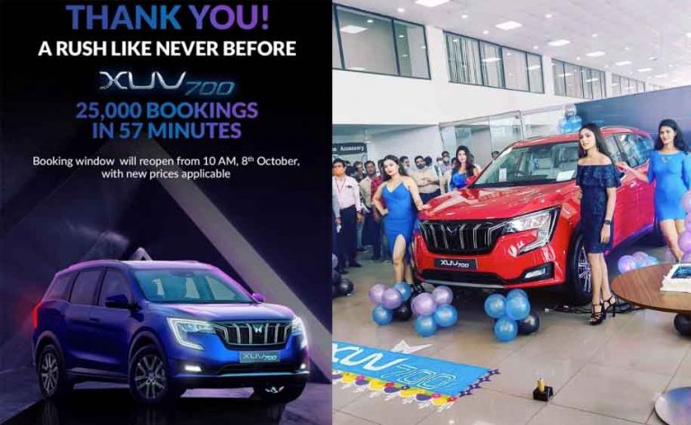 With Over 7 Bookings/Second, Mahindra XUV700 Is Already a SUPERHIT!