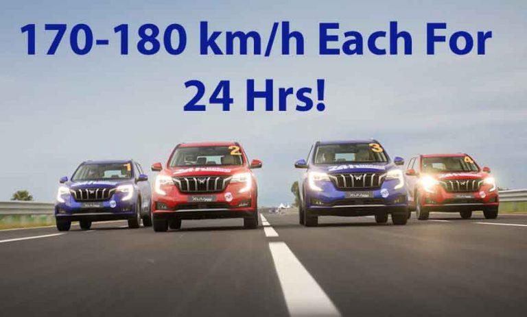 4 Mahindra XUV700s Travel at 170 km/h Each All Day Long- Make Record