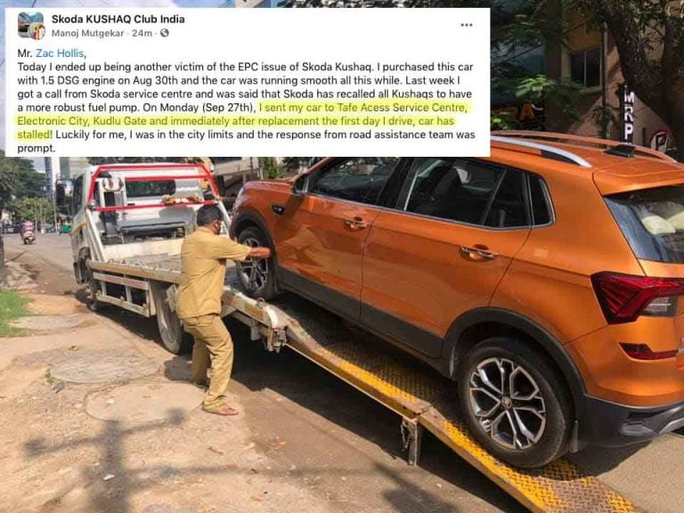 Skoda Kushaq Stalls Soon After Switching to 'More Robust' Fuel Pump