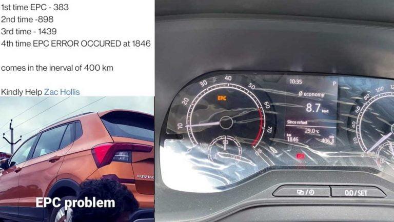 Skoda Kushaq Owner Gets EPC Error Every 400 km, 4 Faced Already!