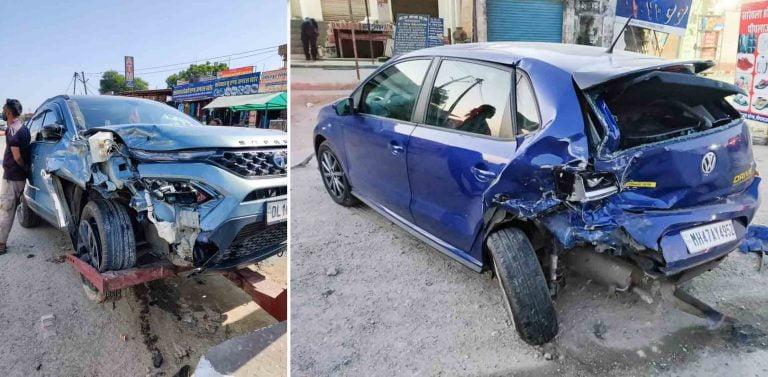 Tata Safari (NCAP- NA) Tests Build Quality of VW Polo (NCAP- 4 Star)