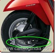 honda activa combi brake system