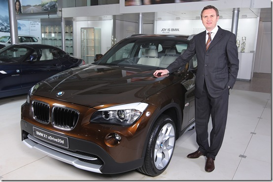 Peter Kronschnabl, President, BMW India with the new BMW X1