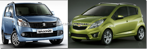 New Wagon vs Chevrolet Beat
