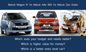 Maruti Alto 800 Vs Estilo Vs Wagon-R– Which Is Better Value For Money Car?